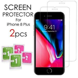 2 3D Tempered Glass Screen Protector Guard 9H Clear For Apple iPhone 8 UK Seller