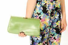 60S VINTAGE GREEN FAUX LEATHER CLUTCH BAG FROM CLARKS