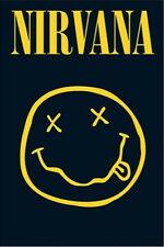 (FRAMED) NIRVANA SMILEY FACE COBAIN (66x96cm) POSTER PRINT PICTURE ART BRAND NEW