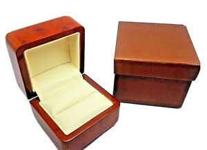 Luxury real wood walnut proposal Engagement wooden Ring Box HALF PRICE WEEKEND