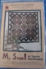 """'My Stars' by Pam Bono Designs - 61"""" Square Wallhanging"""