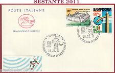 ITALIA FDC CAVALLINO CAMPIONATO ITALIANO DI CALCIO SERIE A 1991 GENOVA U683