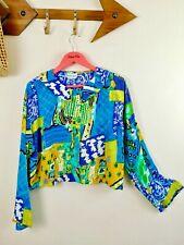 80s Vintage Oversized Crop Top. Jacket. Shoulder Pads. 80s Party. UK 14.16. 18