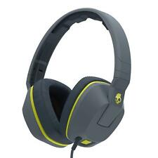 Skullcandy CRUSHER Overear Headphones with Built-in Amplifier and Mic- Grey/Lime