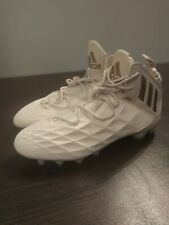 Adidas Freak Lax Lacrosse Football Mid Mens Cleats Sz 12 White Gold CQ4256 NEW
