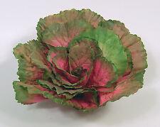 "Designer Large Artificial Faux Fake Pink Kale with 3"" Stem Vegetable"