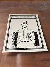 Michael Paraskevas Drawn 14 Claude Lefty Williams White Sox Baseball Card 1989