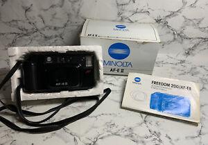 Minolta AF-E2 Autofocus 35mm Camera Point Shoot with Original Box Instruction