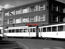 PHOTO  BELGIUM TRAMS 1959 MONS STATION SNCV STANDARDS TRAM  NO 10305/19318  ON R