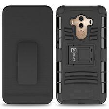 Huawei Mate 10 Pro Case TPU Shockproof Hybrid Cover Belt Clip Holster Black