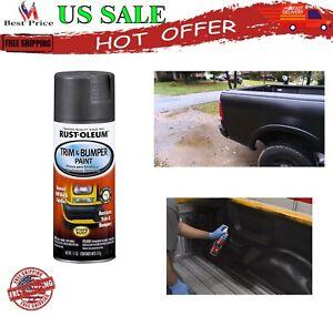 Spray Paint Matte Black Metal Car Plastic Trim Auto Bumper Flat OEM Color Enamel