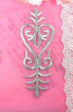 35 mm plata oro flor del telar jacquar cinta bordado de encaje y apliques recorte