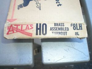 Atlas HO Scale Brass #8 LH Turnout  #8LH, NOS