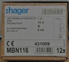 Hager Leitungsschutzschalter B16A 1-polig 230/400V B-Charakter MBN116 (1Stück)