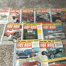Hot Rod magazine lot of 10 all 1950s Vintage