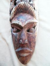Hand Carved Mask #2 (Relaxed Mouth Human & Common Brown Lemur) ~ Madagascar