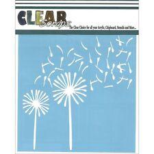 "Clear Scraps Stencils 6""X6"" - Dandelion Wind"