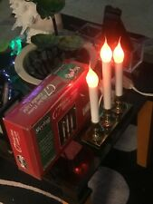 AC - Power ( C7 ) Flicker Flame Candle Light with Solid Base Stand