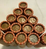 Old Wheat Pennies Rolls Unsearched Cents US Coins D S MINT MARK ONLY BU Penny