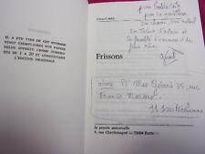 ENVOI AUTOGRAPHE à Laetitia Casta / FRISSONS. Gérard Mas
