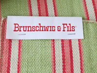 "Brunschwig & Fils Tavistock Stripe Woven Fabric Upholstery Remnant 23"" x 4 yards"