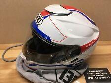 Large Shoei GT Air White Dual Visor Motorcycle Helmet  - LIKE NEW