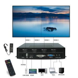 4 Channel TV Video Wall Controller Video Processor Screens Splicing HDMI DVI VGA