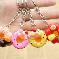 Sweet Cake Keychain Pendant Bread Food Keyring Gift Bag Purse Jewelry _QA