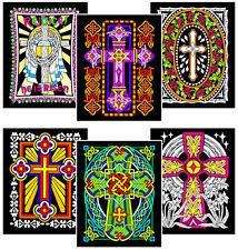 6-Pack of 8x10 Velvet Posters: Christian Crosses