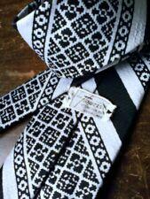Black & White Men's Vintage Wide Tie KEN FLOWERS STORE FOR MEN Phx., Az.