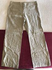 $180 Gant USA Beige Linen Flat Front Dress Trousers Pants FR 46 UK 18 US 14 jean