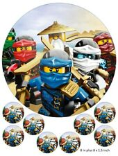Lego Ninjago cake and cupcake toppers, Spinjitzu, Ninja, Lloyd, Jay