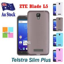 Soft Gel Matte Clear TPU Case Cover For ZTE Blade L5 / Telstra Slim Plus