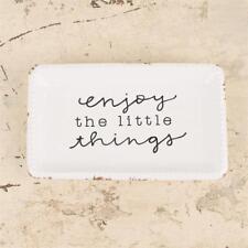 GLORY HAUS INSPIRATIONAL TRINKET CERAMIC JEWELRY TRAY - ENJOY THE LITTLE THINGS