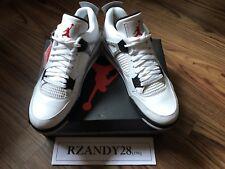 c3c4bfa6e40994 Air Jordan 4 Retro OG Mens Size 11 White Fire Red-Black-Tech