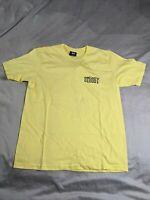 Stussy Men's Basic Logo Short-Sleeve T-Shirt CD4 Yellow Medium NWT