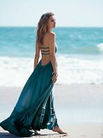 New Women Summer Backless Spaghetti Straps Maxi Dress Evening Party Beach Dress