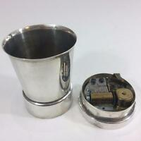 Napier Silver Baby Cup Swiss Reuge Music Box Plays Rock A Bye Song Vtg See Video