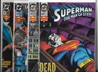 Superman: The Man of Steel  #38, #39, #40 & #41   Lot of 4 (1994/95, DC Comics)