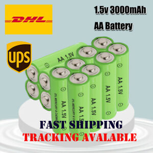 12pcs New AA Rechargeable Battery 1.5V 3000mah Alkaline Batteries fast shipping