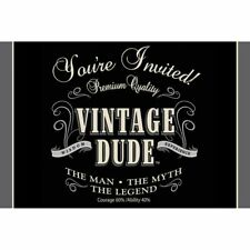 Vintage Dude Gatefold Birthday Invitations The Man Myth Legend Birthday Party