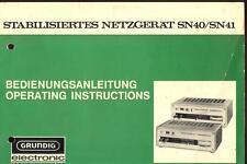 Grundig manuale per rete dispositivo SN 40-41.