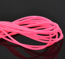 2 Lots of 1 Metre Shocking Pink Rubber Cord  3mm Jewellery Q19