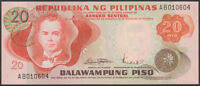 PHILIPPINES - 20  PISO 1970 (ND)   - P 150  Sign 8  Uncirculated Banknotes