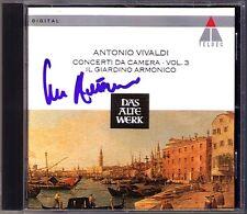 Giovanni ANTONINI Signed VIVALDI 6 Concerti da Camera 3 IL GIARDINO ARMONICO CD