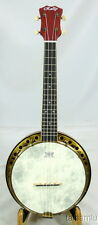 Rally maple Concert Ukulele banjo,Antique Brass surface,hardcase,DUB-1F series