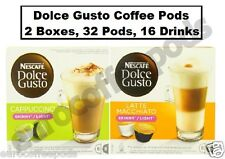 Dolce Gusto Coffee Capsules Skinny Latte & Skinny Cappuccino, 2 Boxes, 32 Pods