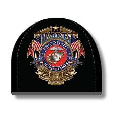 USMC Flag Badge of Honor Watch Cap Beanie Black