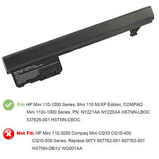 6 cell Battery For Hp Mini110 mini110-1000 Mini CQ10-100 537626-001 HSTNN-CBOC