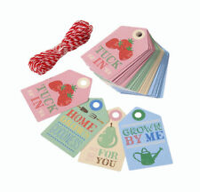 Cottage Garden labels & twine for home grown Vegetable & Fruit gifts